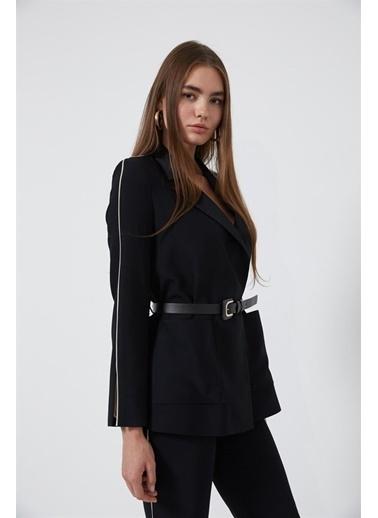 Setre Siyah-Bej Ceket Pantolon Takım Siyah